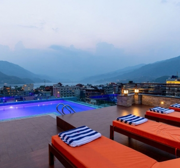 Pokhara View from Pool